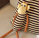 萌猴布偶方形抱枕