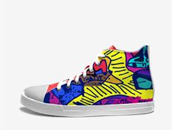张奇设计师款涂鸦鞋